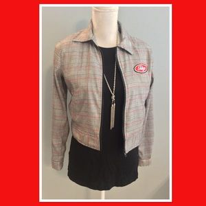 Forever 21 sz Small plaid crop jacket